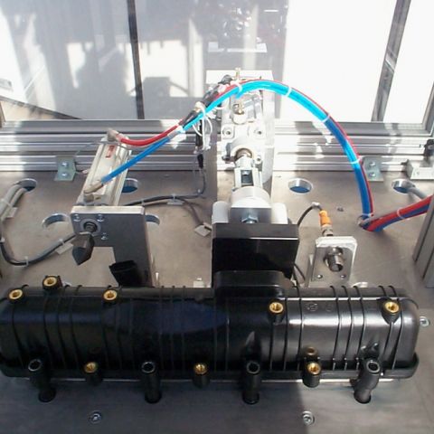 Bushing insertion and testing plant